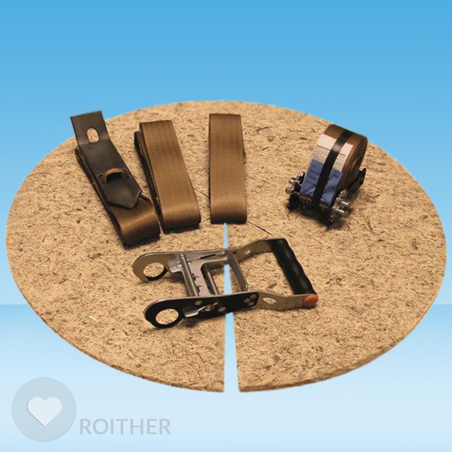 ballenverankerungsset mit erdanker f r stammumfang bis 20 cm stabilisierung baumsicherung. Black Bedroom Furniture Sets. Home Design Ideas