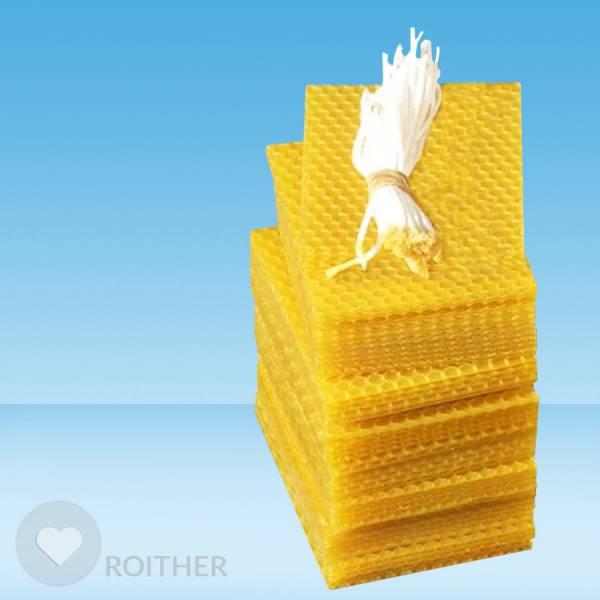 100 Stk. Bienenwachsplatten 95x75x2mm