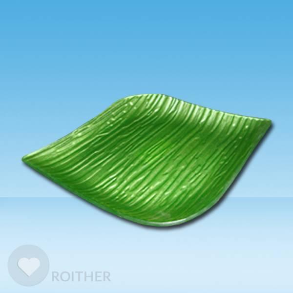 Glasteller grün 13x13 cm