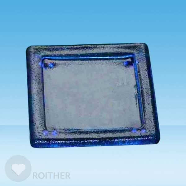 Glasuntersetzer blau quadratisch 10,5 cm