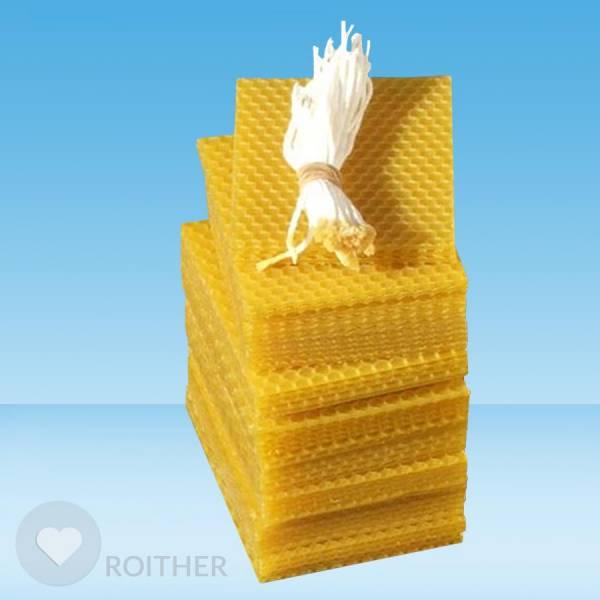 50 Stk.Bienenwachsplatten 95x75x2mm