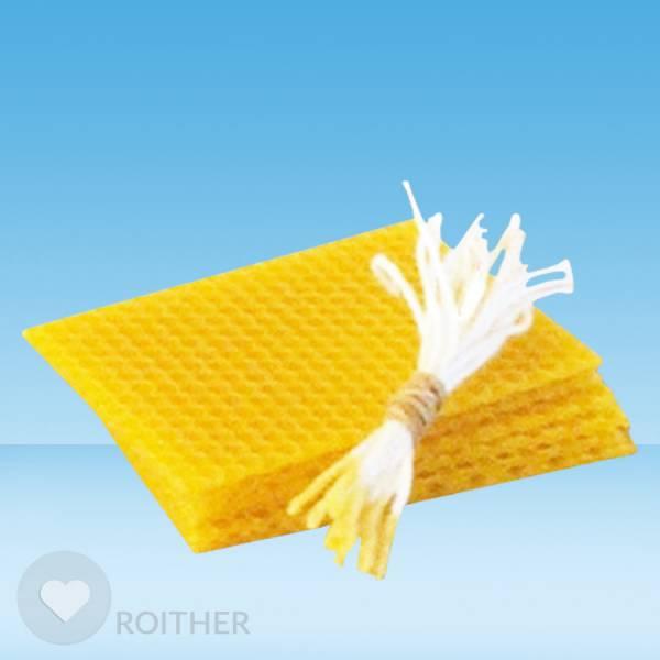 20 Stk. Bienenwachsplatten 95x75x2mm