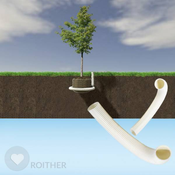 50 m Bio Kompostierbares Rohr Ø 80 mm, weiß, geschlitzt mit Kokos
