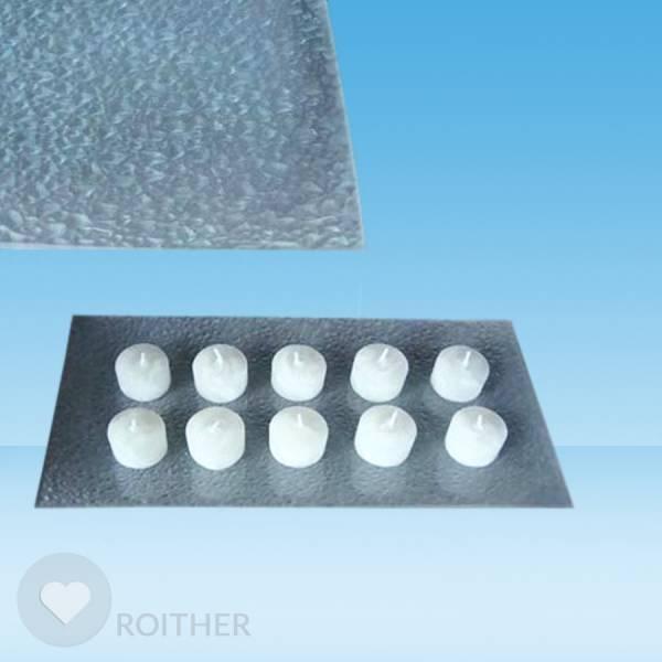 Glasschale Drops satiniert 39x21 cm