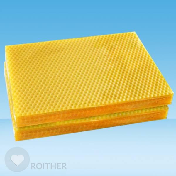 10 Stk. BIO Bienenwachsplatten 210x145x2mm