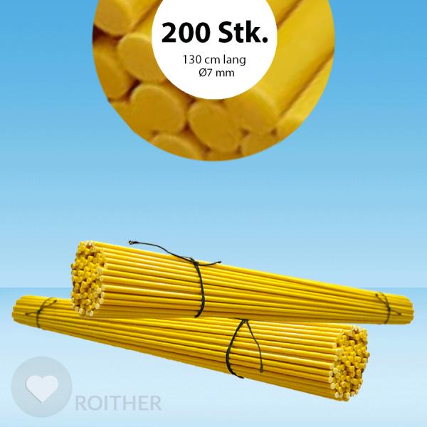 Markierstab Vinotto® Fiberglas gelb 7mmx130cm (200 Stk.)
