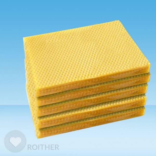 50 Stk. Bienenwachsplatten 210x145x2mm